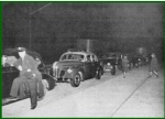 Motorists line up at Irwin, waiting for midnight. (Pennsylvania Turnpike Commission)