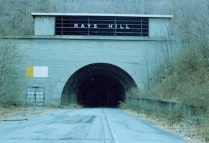 Ray's Hill, West portal. As it was in 1981. Photo by Adam Price